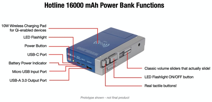 Hotline 16000 Power Bank
